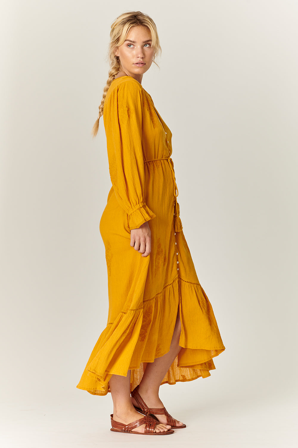 Stevie Maxi Dress in Sunflower