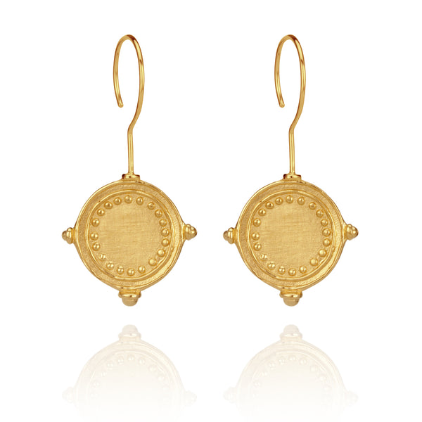 Temple of the Sun ~ Sura Earrings Gold