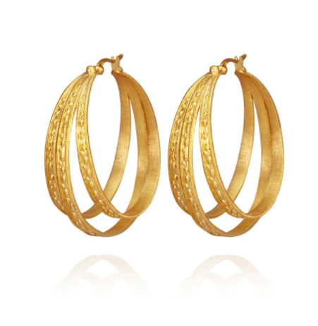 Temple of the sun ~ Melina Earrings Gold