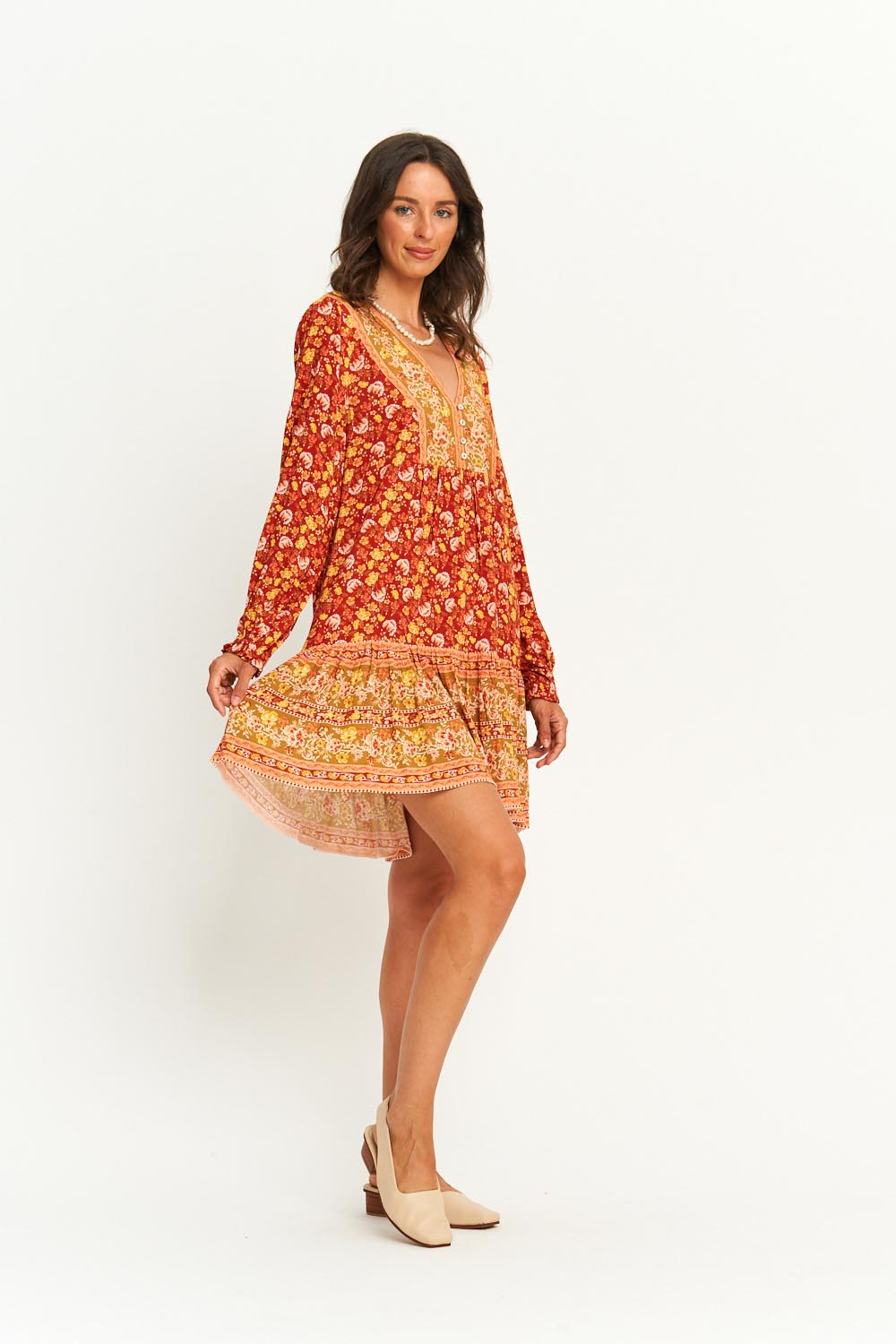 Audrey Tunic Dress in Cinnamon