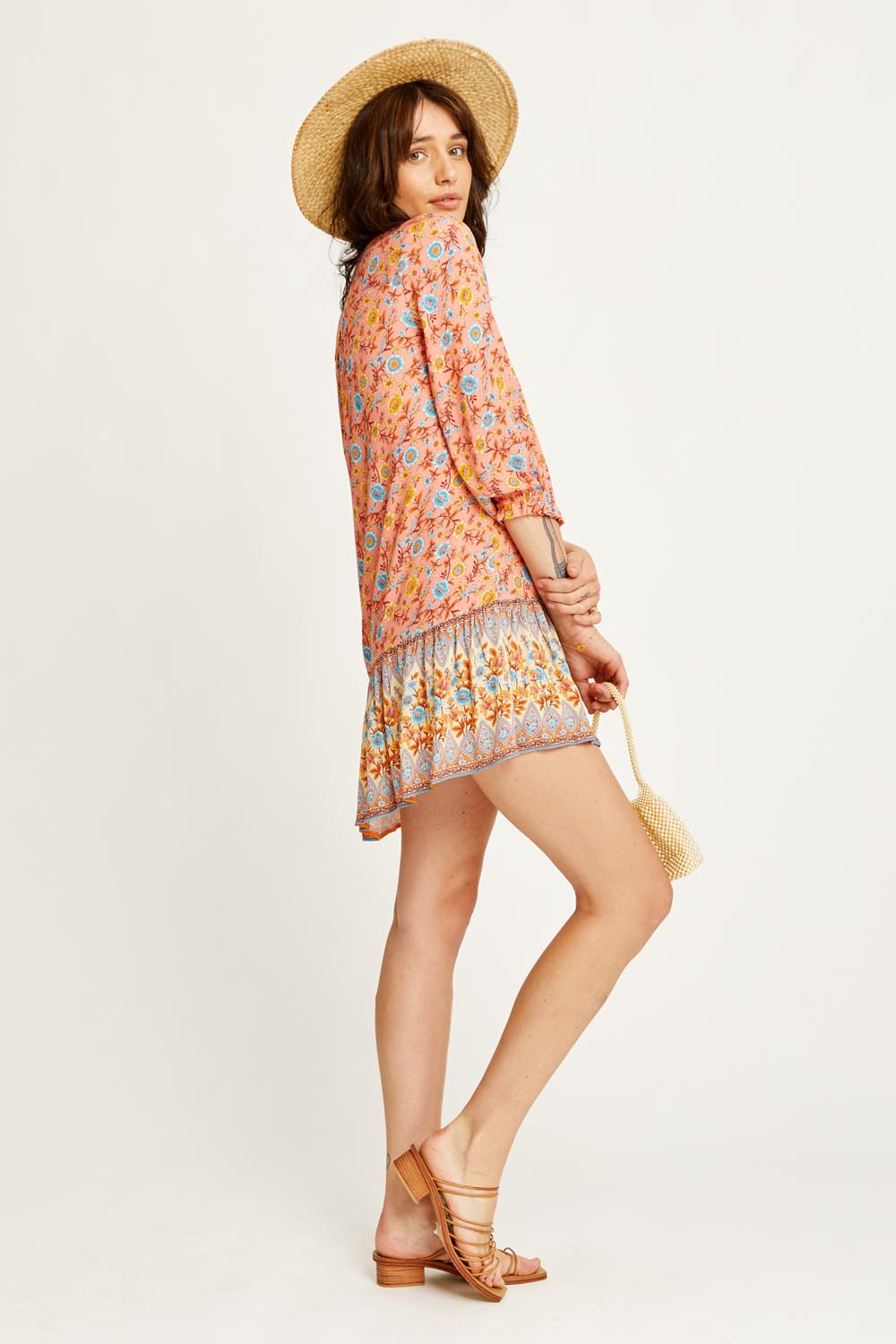 Bijoux Tunic Dress in Coral