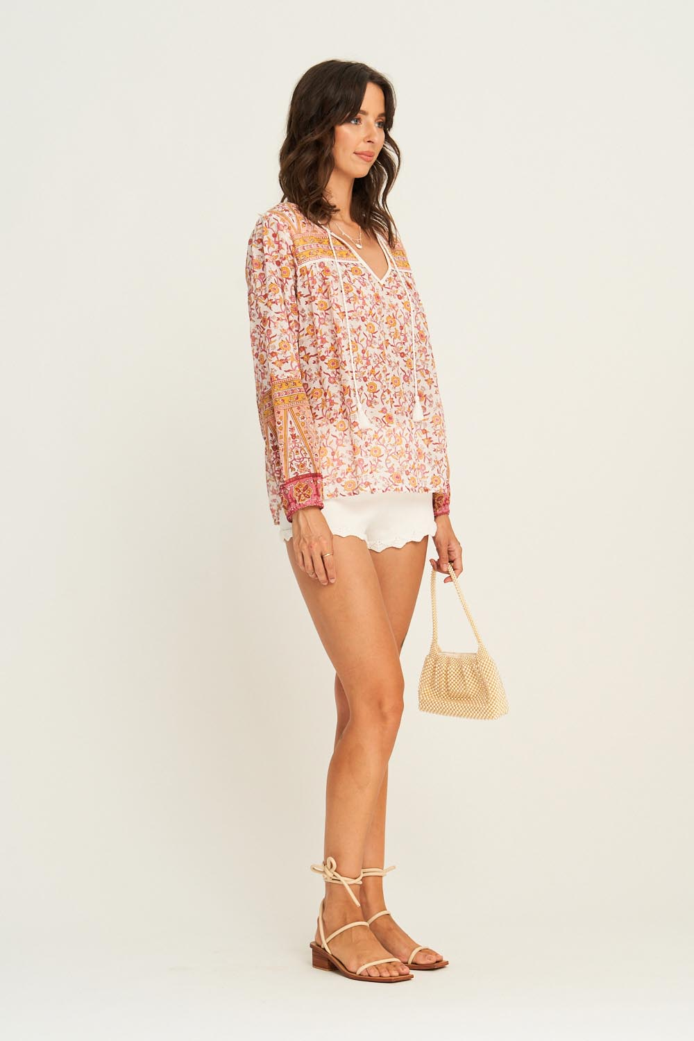 Lucia Blouse in Desert Rose