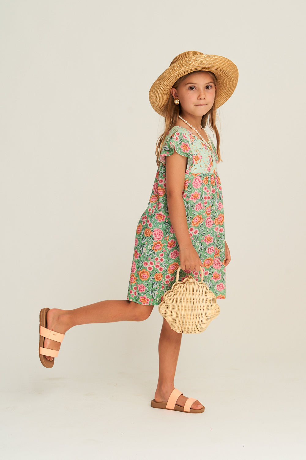 Harmony Littles Dress in Mint