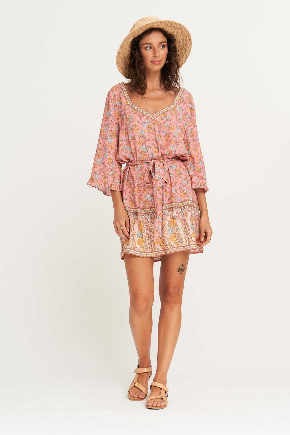 Honey Kaftan in Rosé