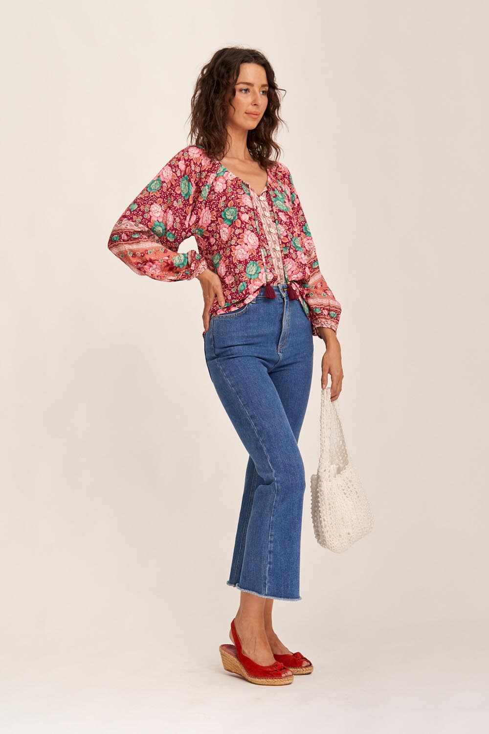 Amberley Blouse in Ruby
