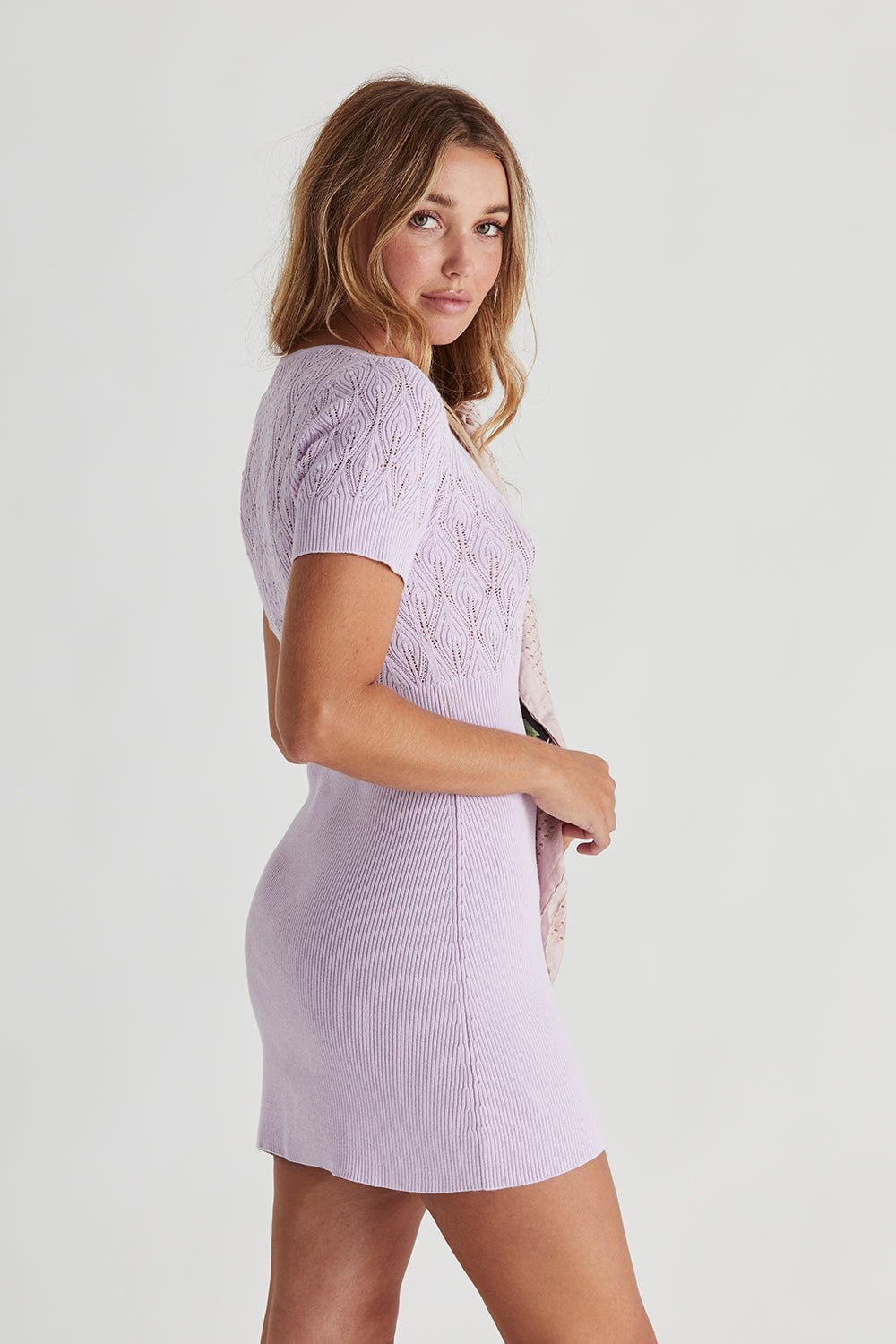 Tasmin Knitted Dress in Periwinkle