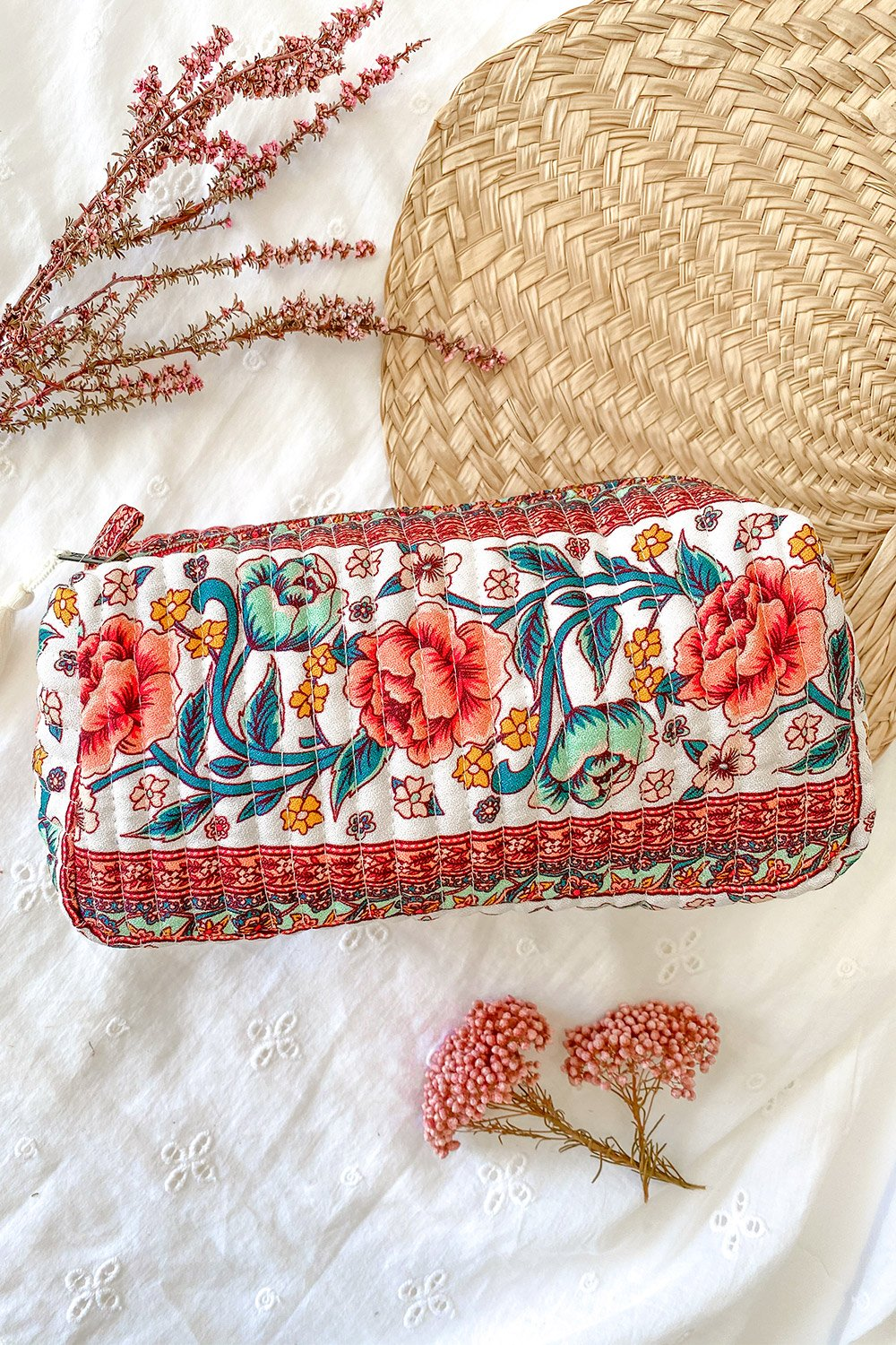 Juliette Revive Beauty Bag in Ivory Rose