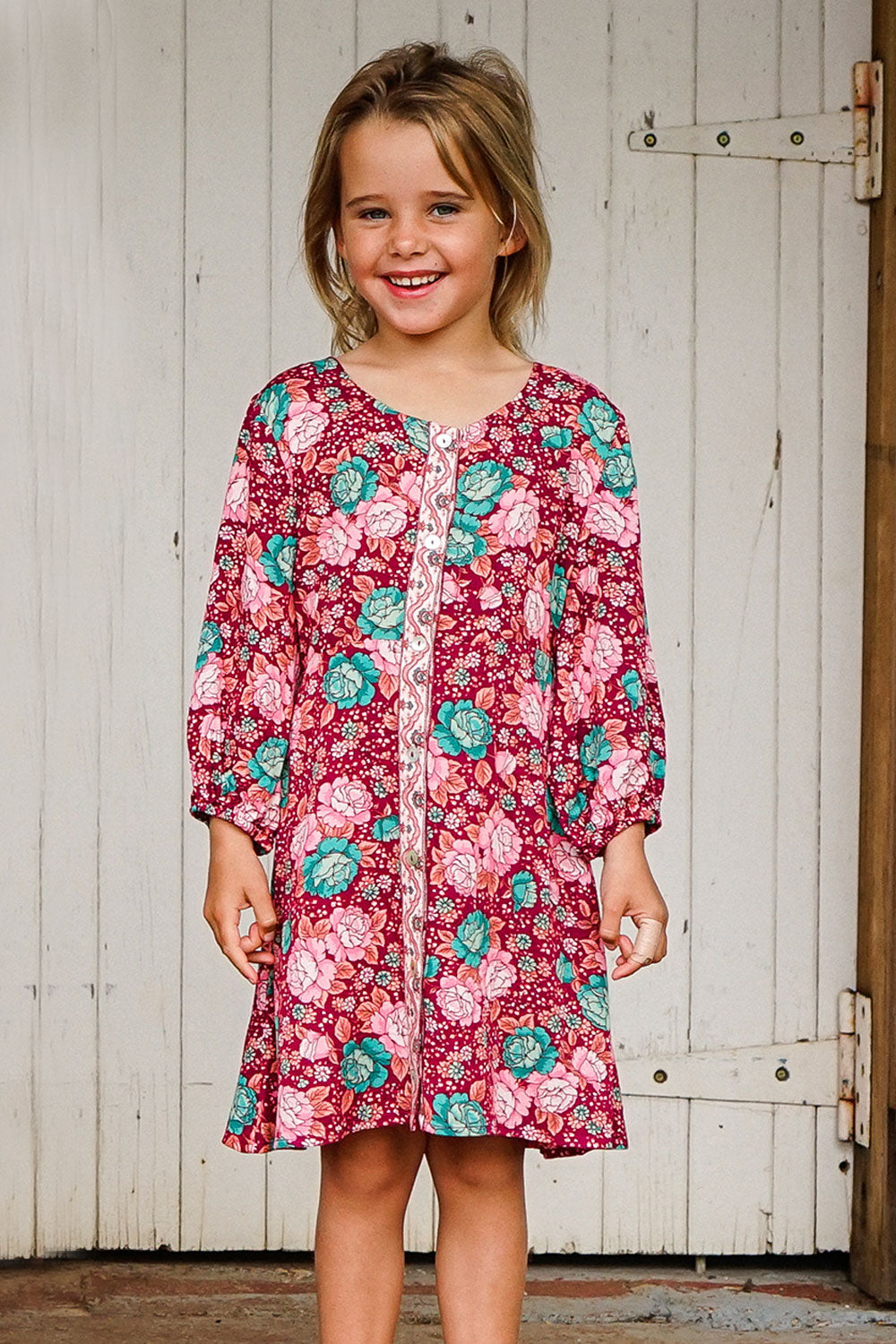Amberley Littles Dress in Ruby