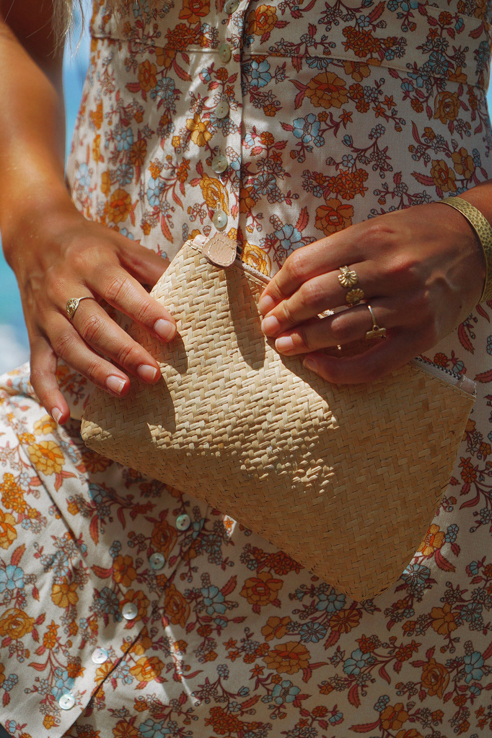 Vacay Woven Purse in Natural