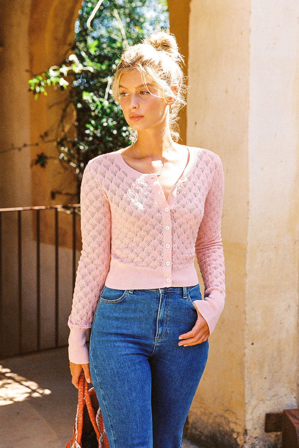 Paloma Cardigan in Blush