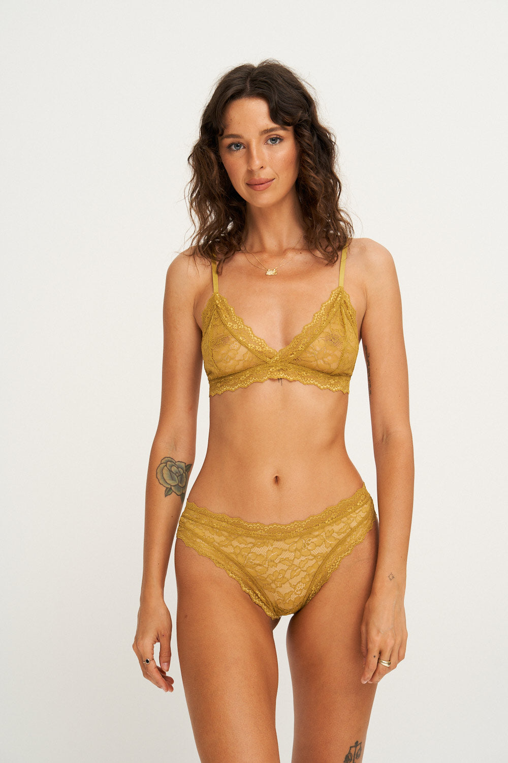 Faith Triangle Bra in Olive
