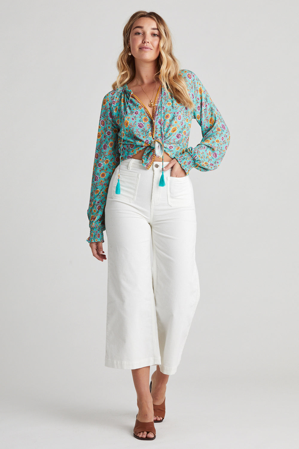 Bijoux Blouse in Turquoise