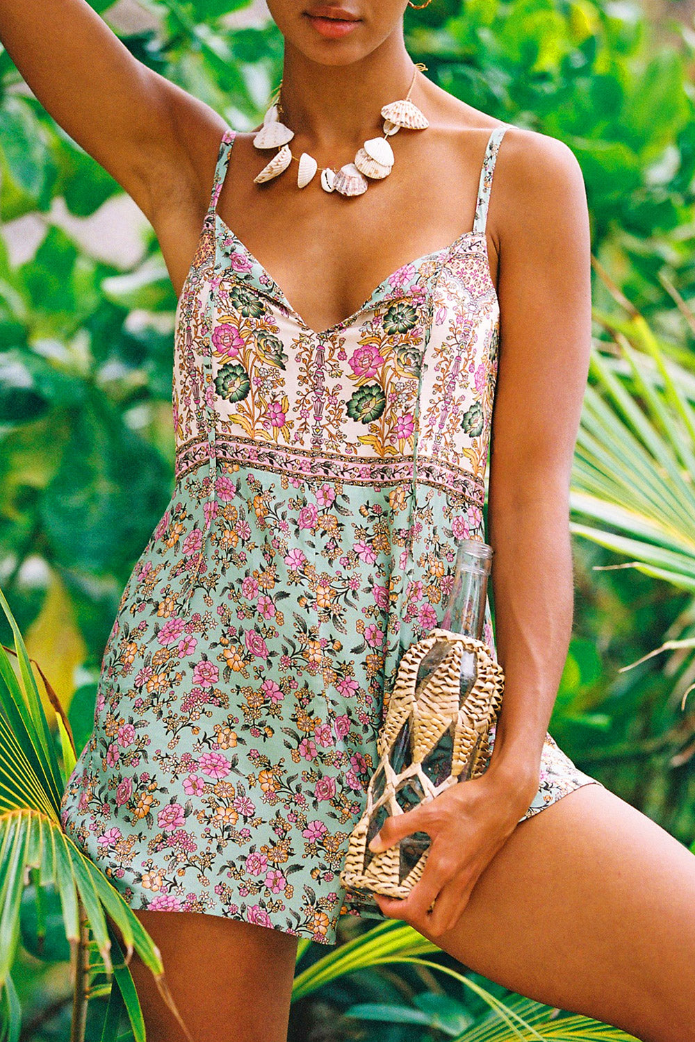 Honey Romper in Mojito