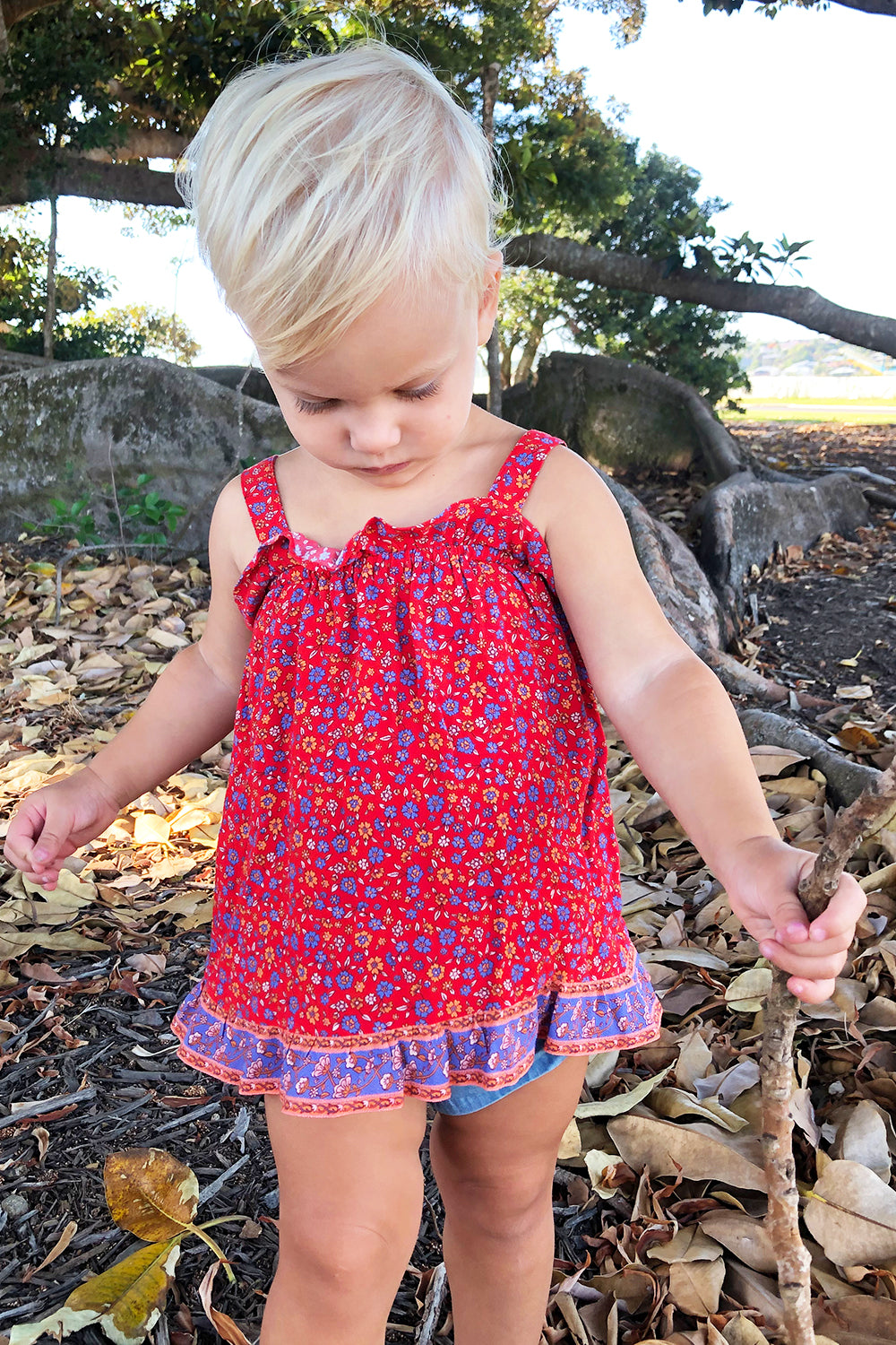 Ophelia Baby Dress in Salsa