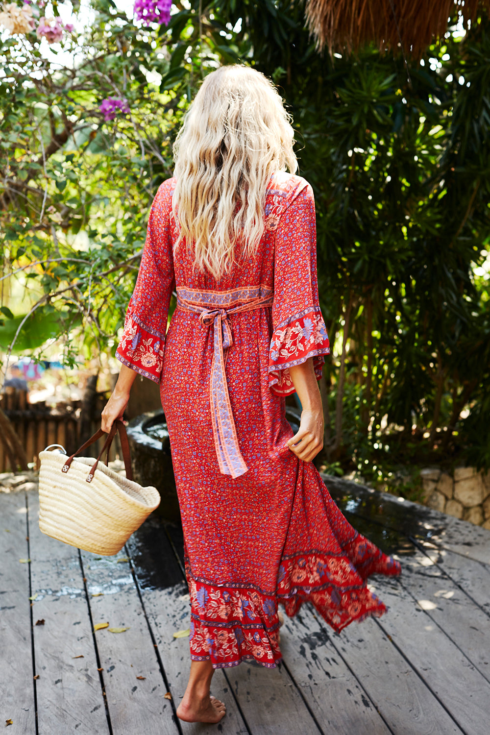 Ophelia Maxi Dress in Salsa