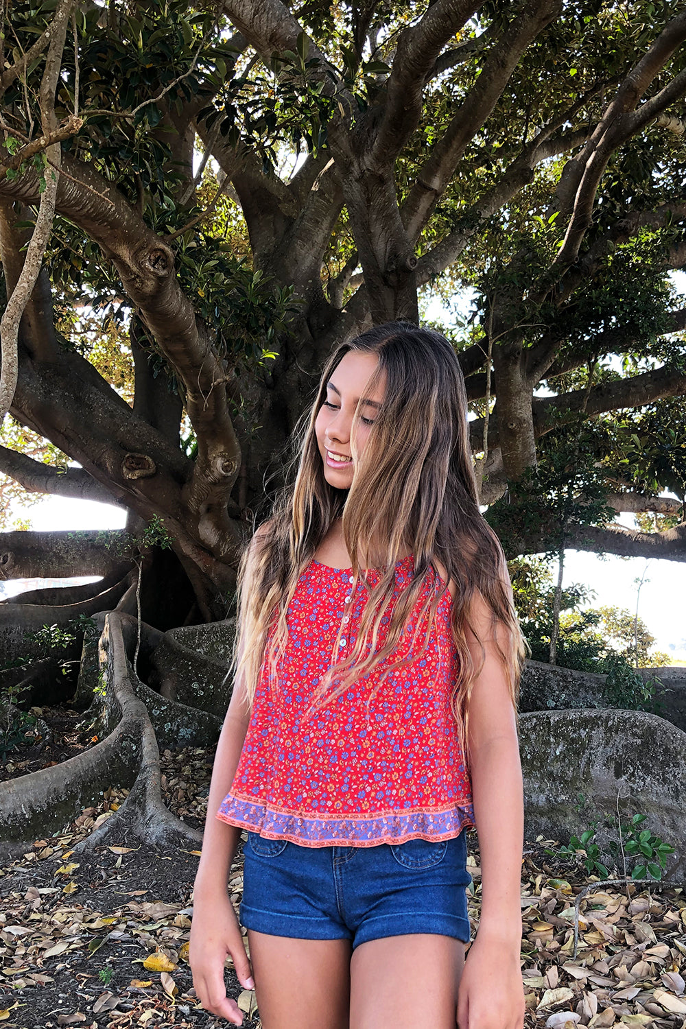 Ophelia Littles Top in Salsa
