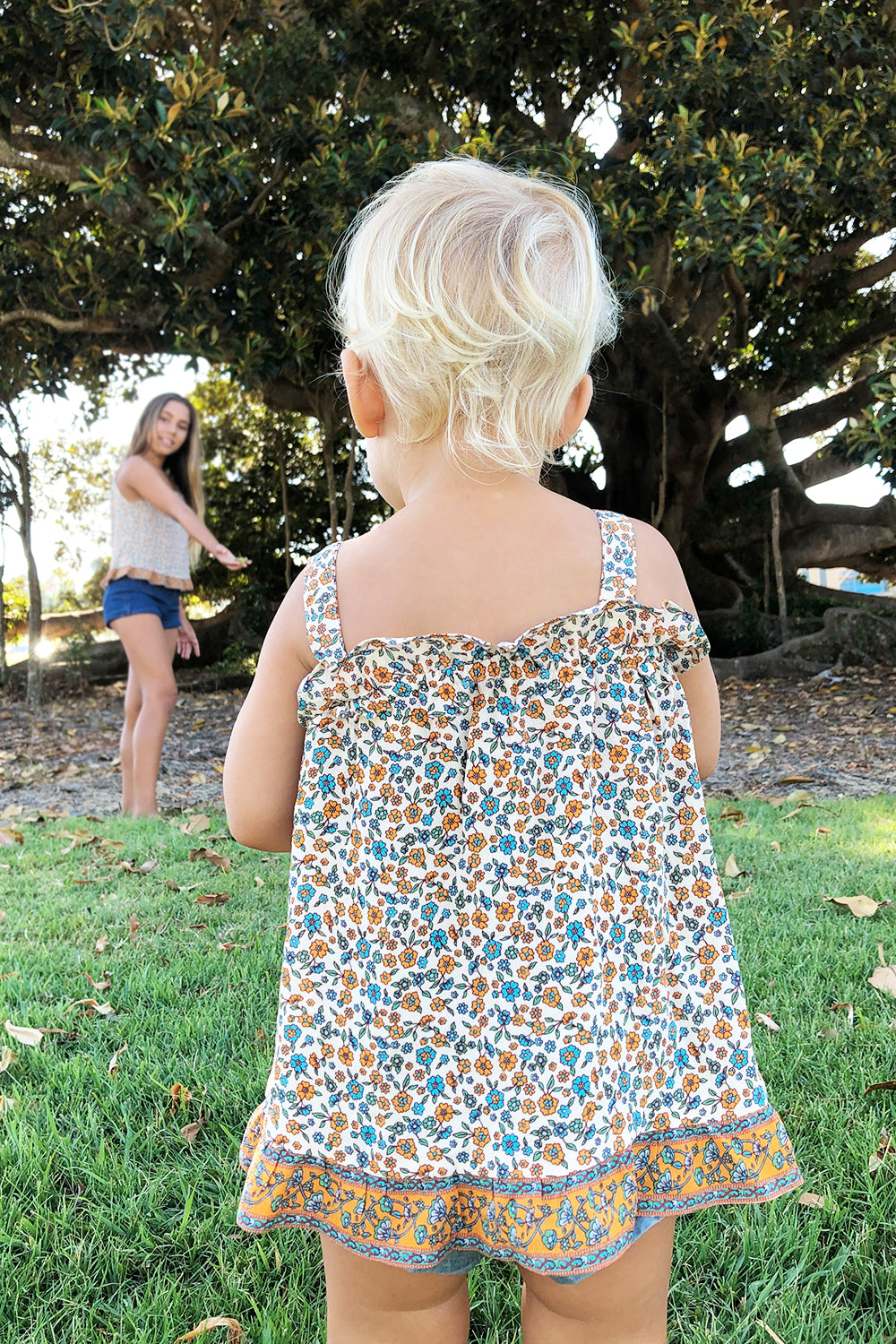 Ophelia Baby Dress in Tango
