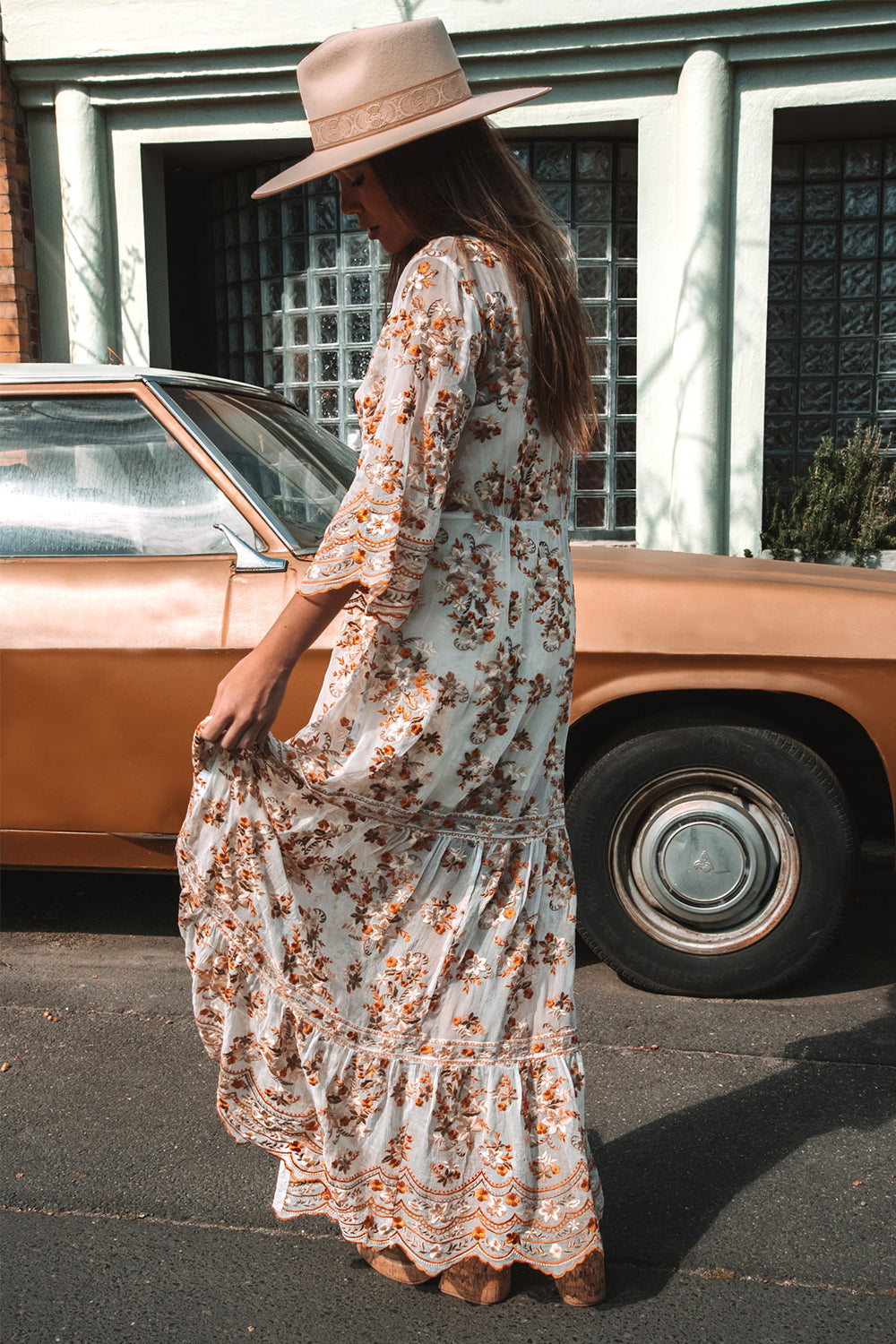 Elysian Maxi Dress in Champagne