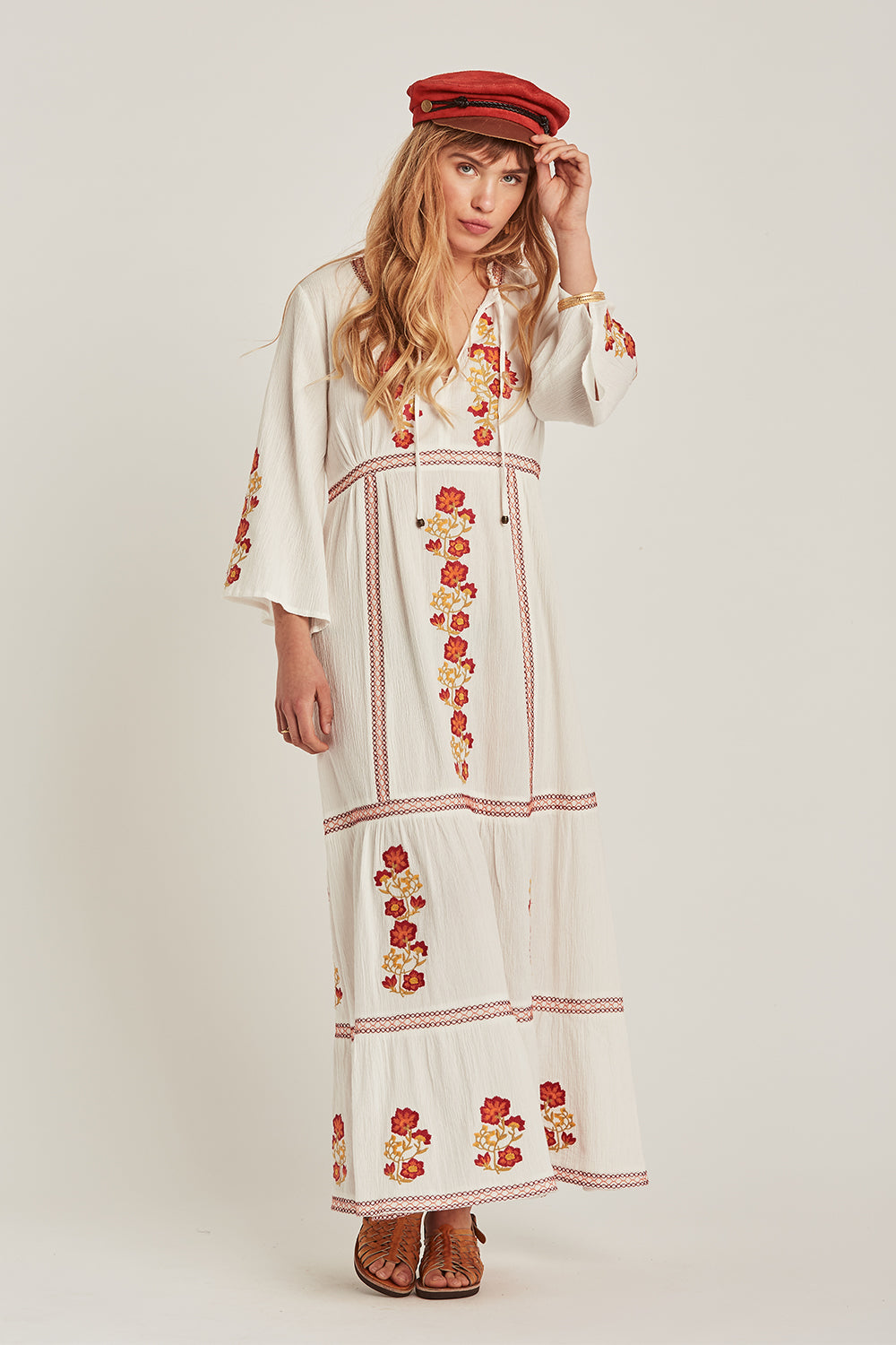 Willow Maxi Dress in Alabaster