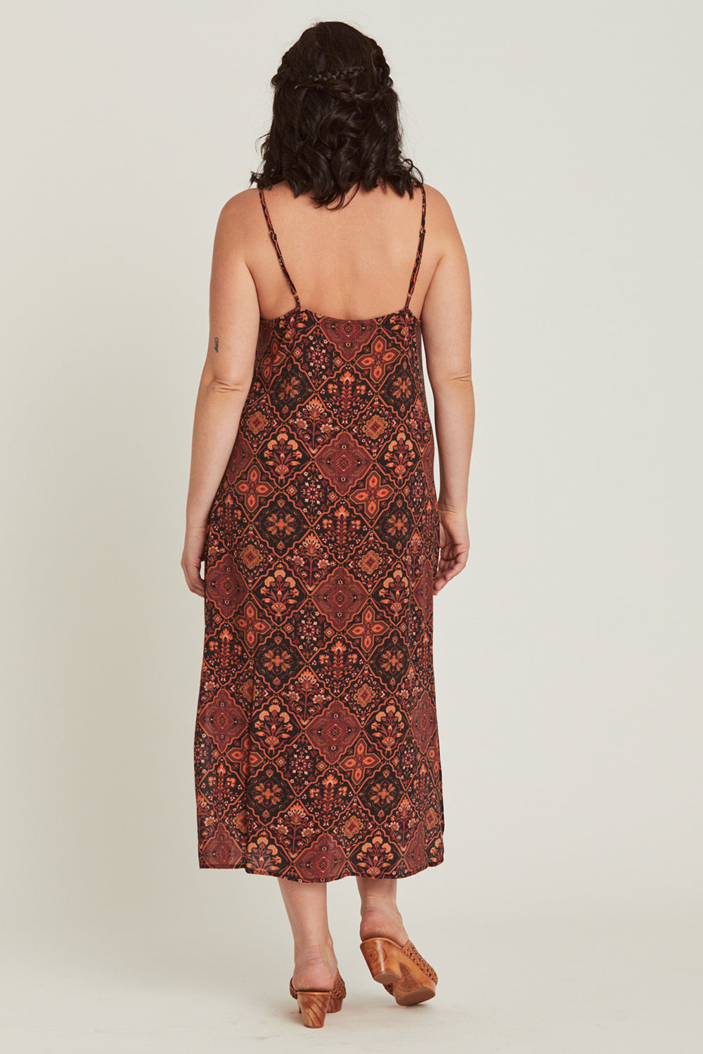 Zephyr Slip Dress in Pepper