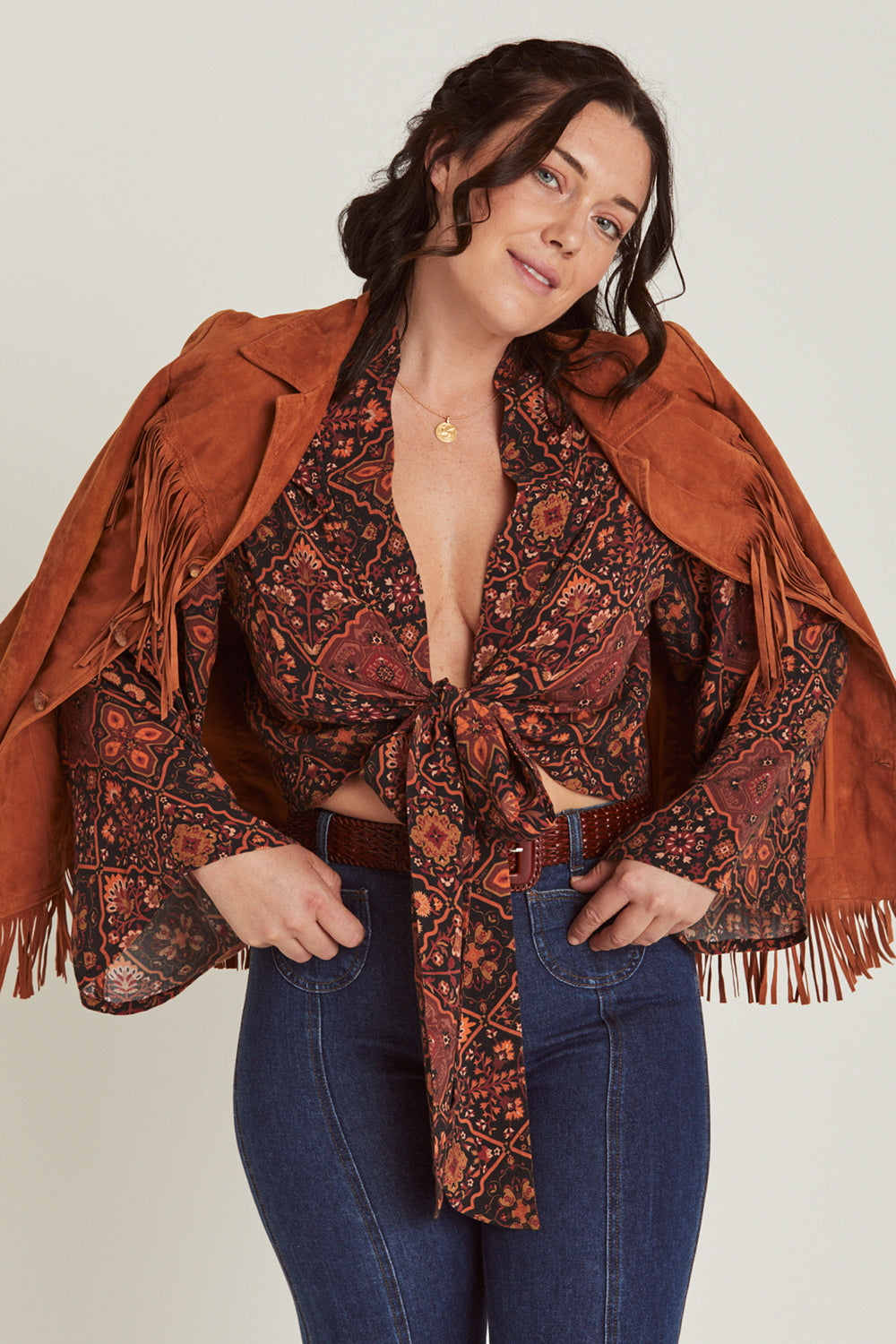Zephyr Wrap Top in Pepper