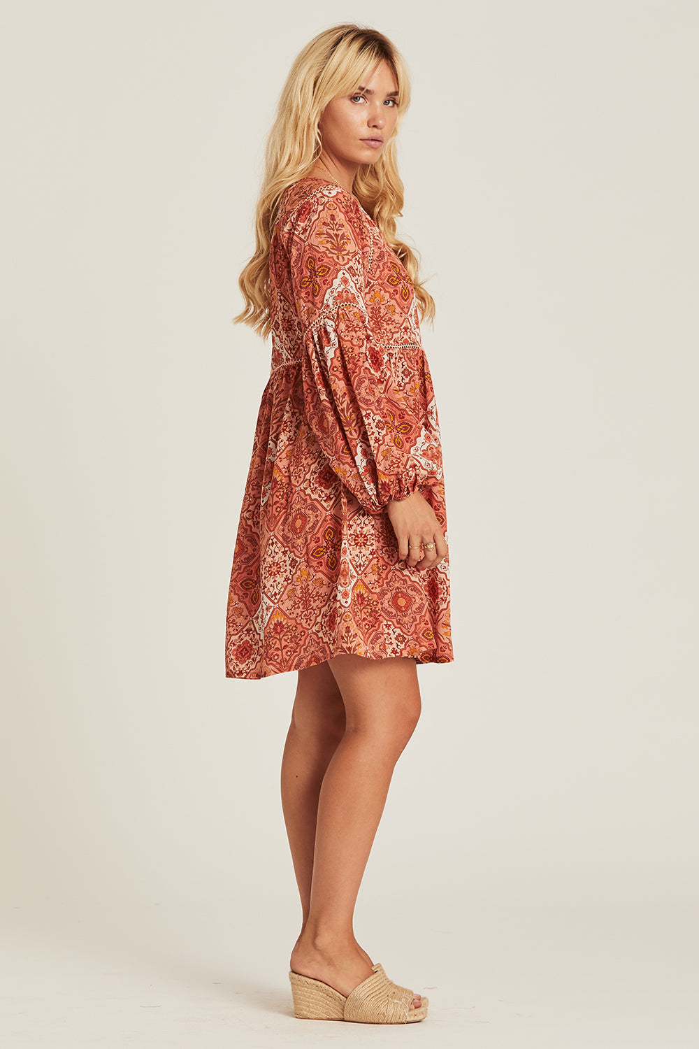 Zephyr Mini Dress in Rhubarb