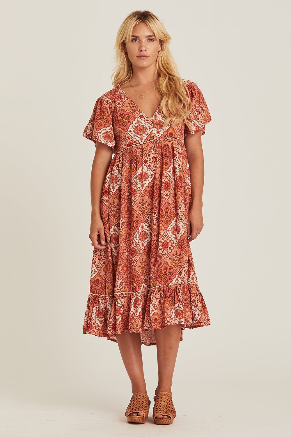 Zephyr Sundress in Rhubarb