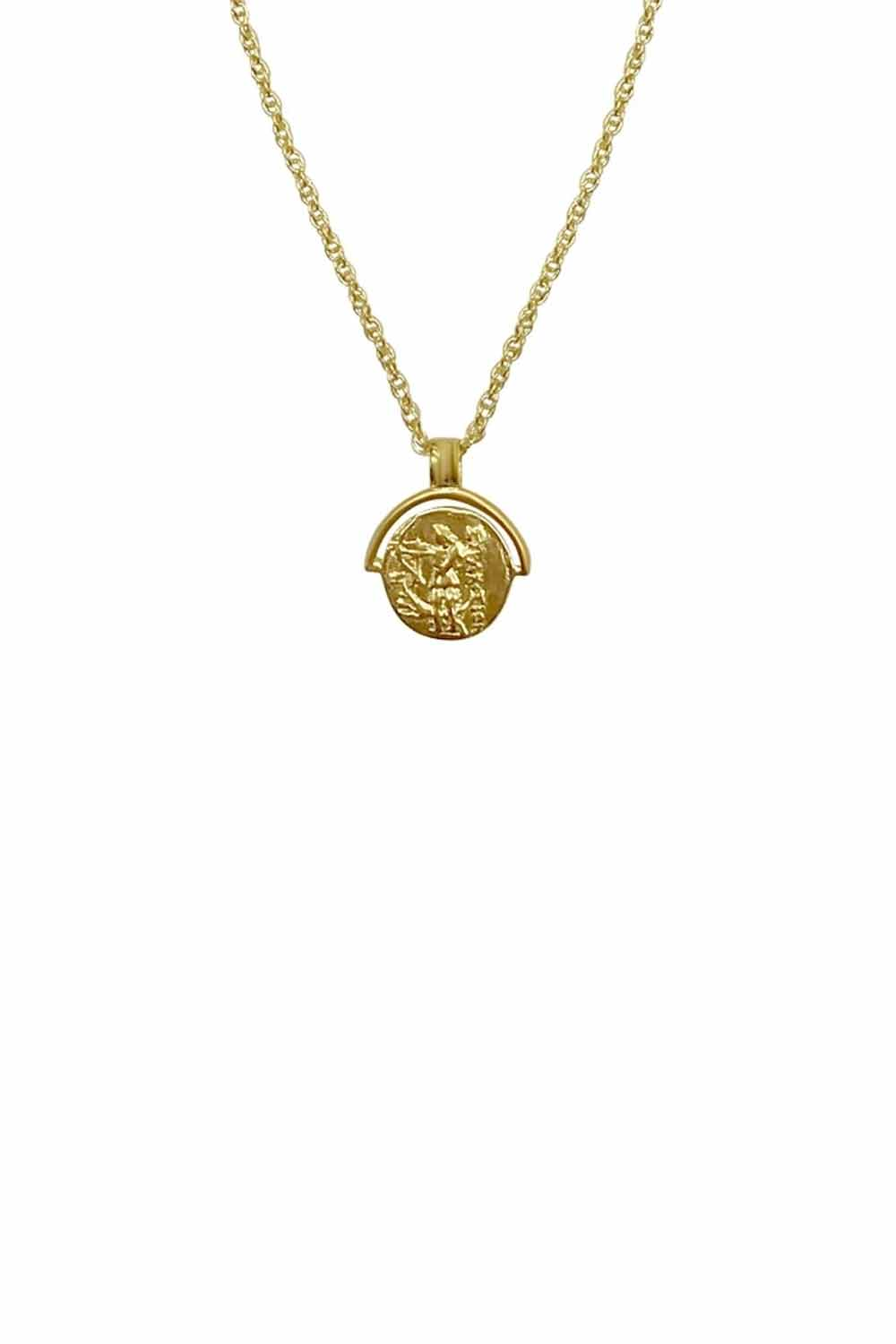 Bonito Jewelry ~ Artemis Coin Necklace in Gold