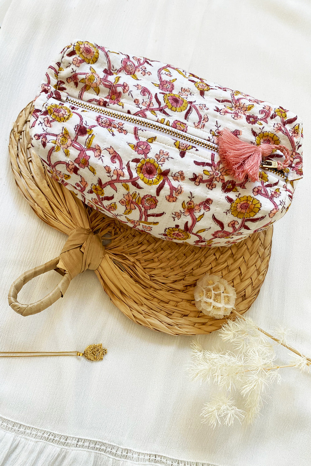 Lucia Beauty Bag in Desert Rose Allover