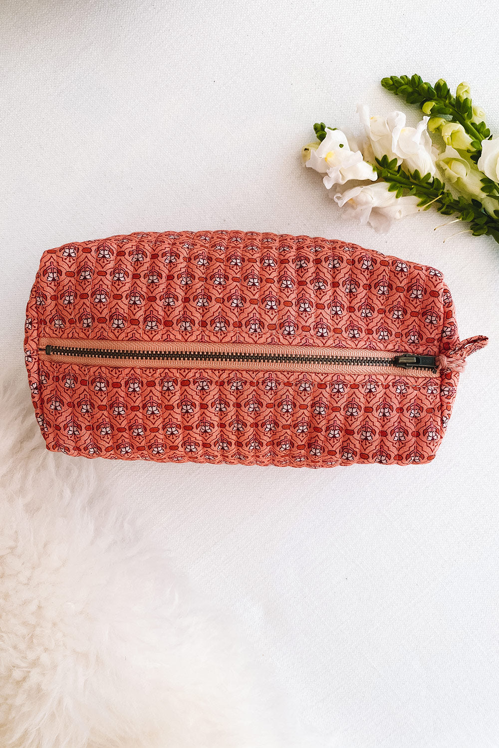 Fleetwood Revive Beauty Bag in Tile Peach