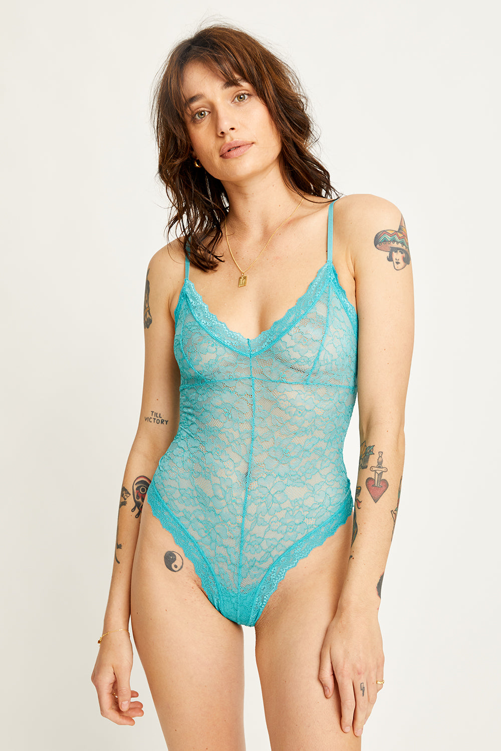 Faith Bodysuit in Teal