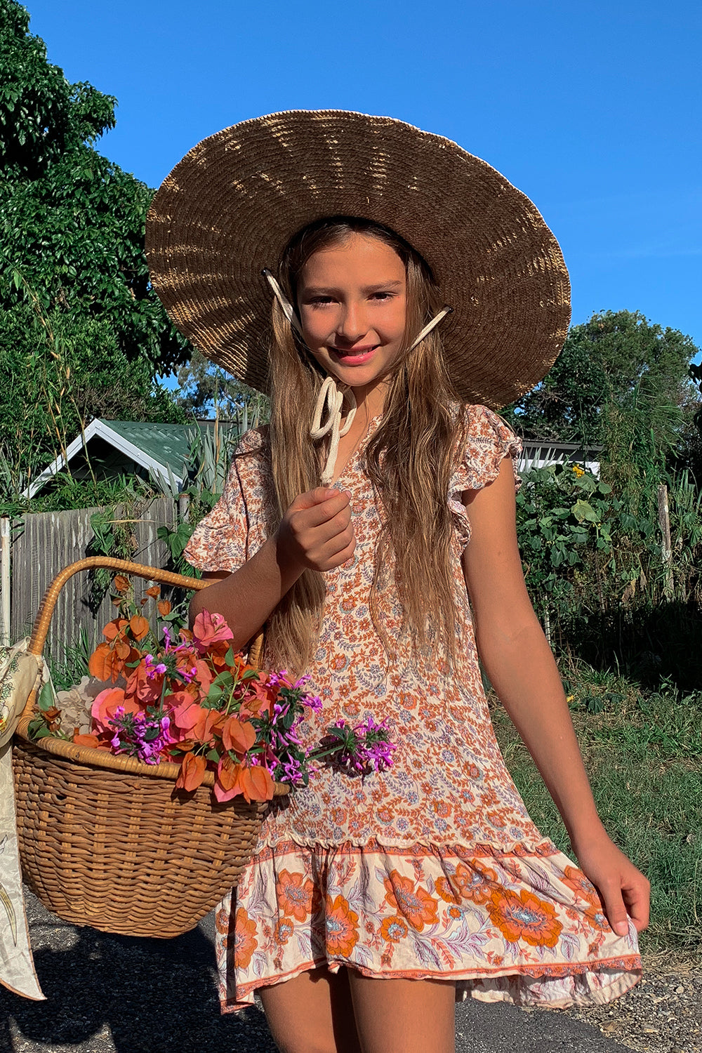 Fleetwood Littles Dress in Harvest Gold