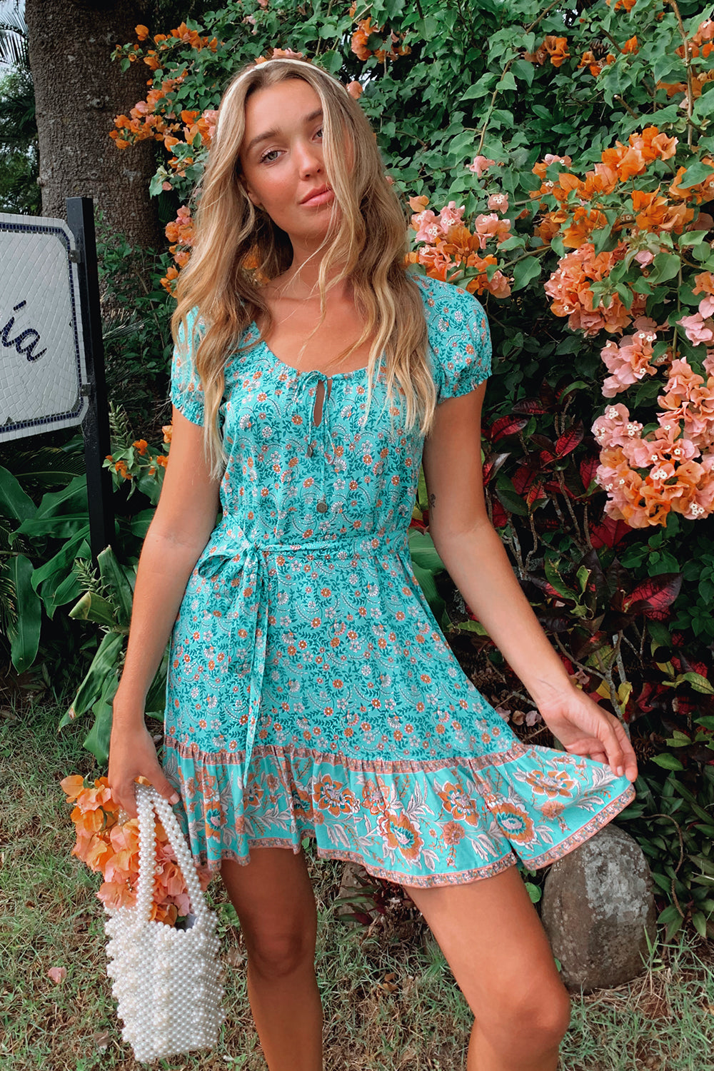 Fleetwood Mini Dress in Greenfields