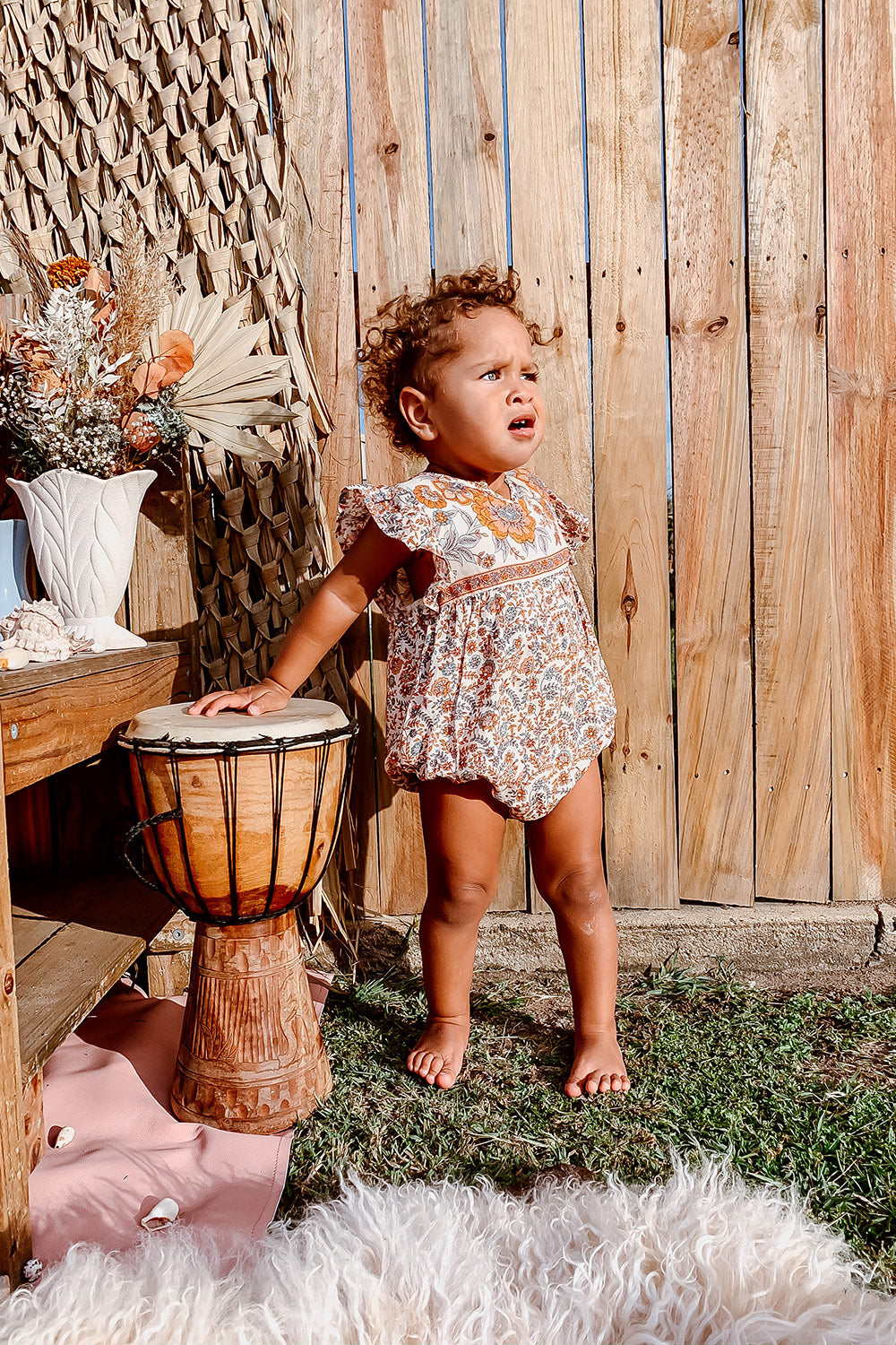 Fleetwood Baby Romper in Harvest Gold