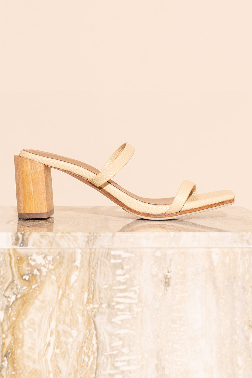 James Smith Sirenuse Strap Sandal in Crema