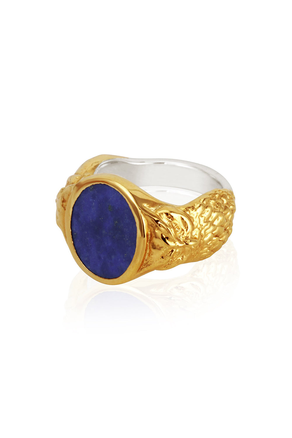 Temple of the Sun ~ Palas Lapis Ring Gold