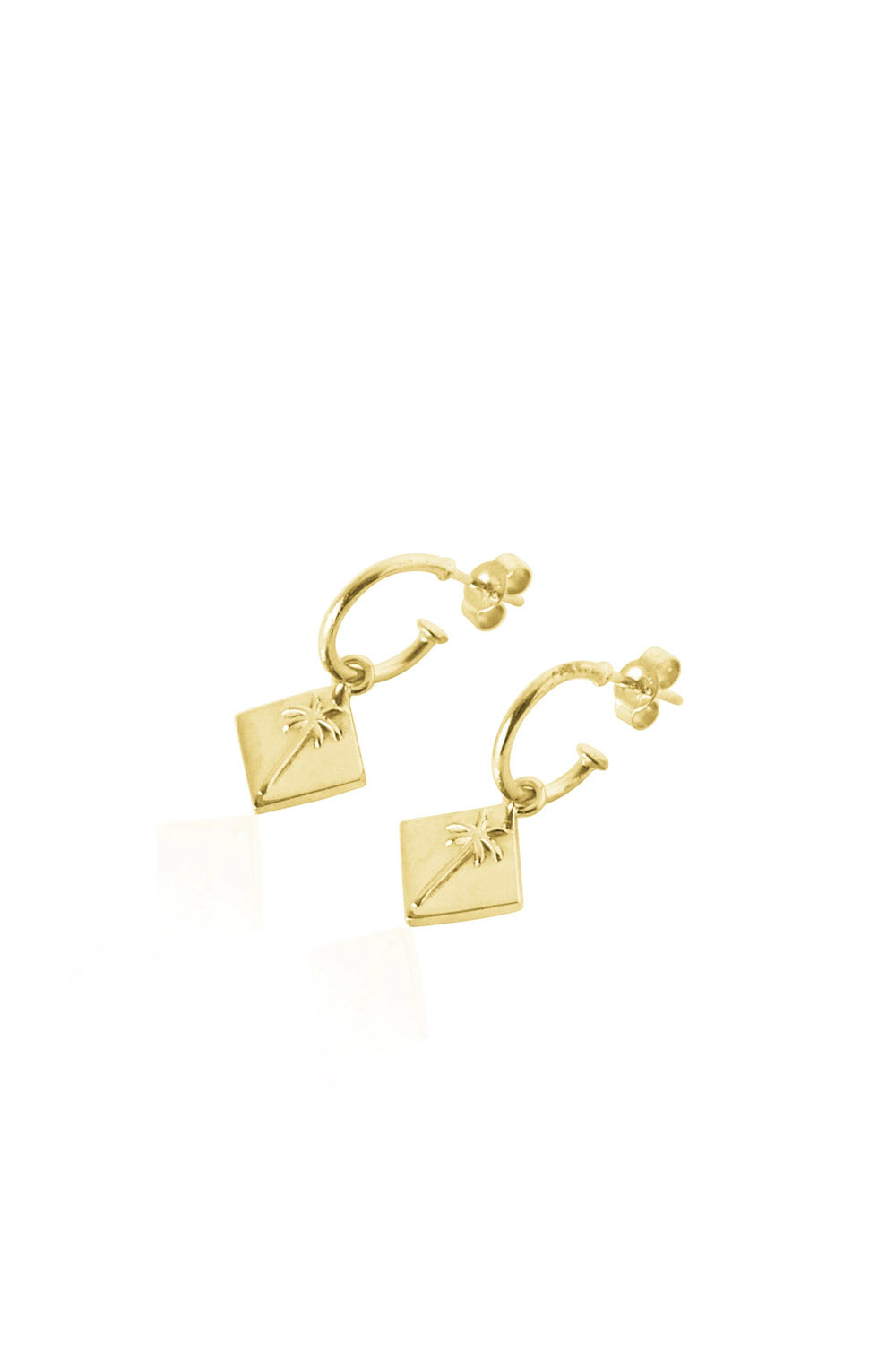 Luna Rose ~ Pacific Palms Earrings in Gold