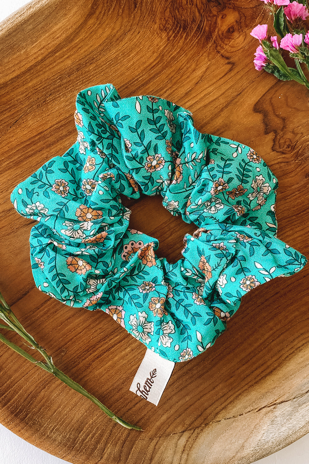 Fleetwood Revive Small Scrunchie in Floral Green