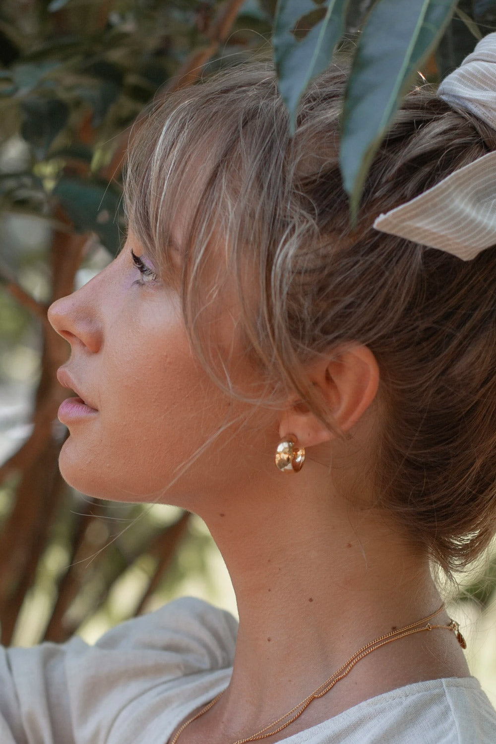 Luna Rose ~ Ulu Hoops in Gold