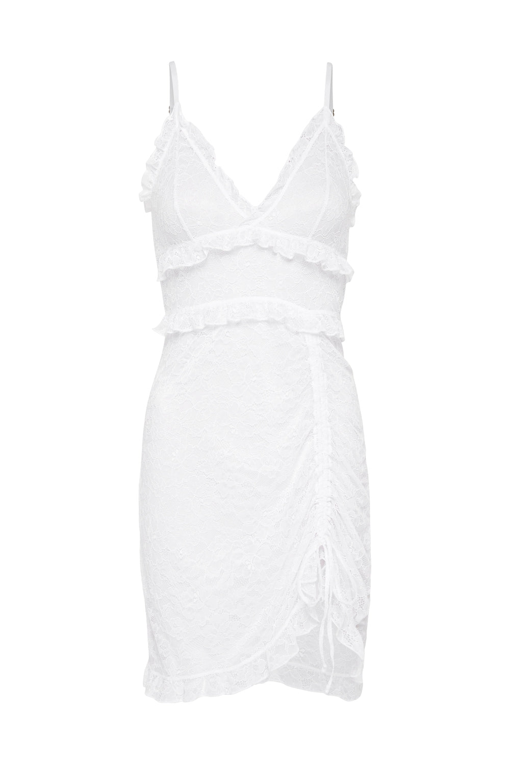 Cherry Slip Dress in White