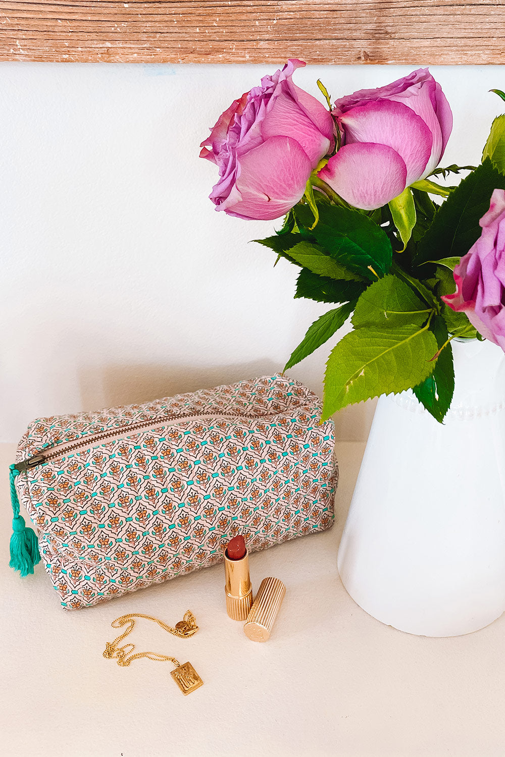 Fleetwood Revive Beauty Bag in Tile Blush