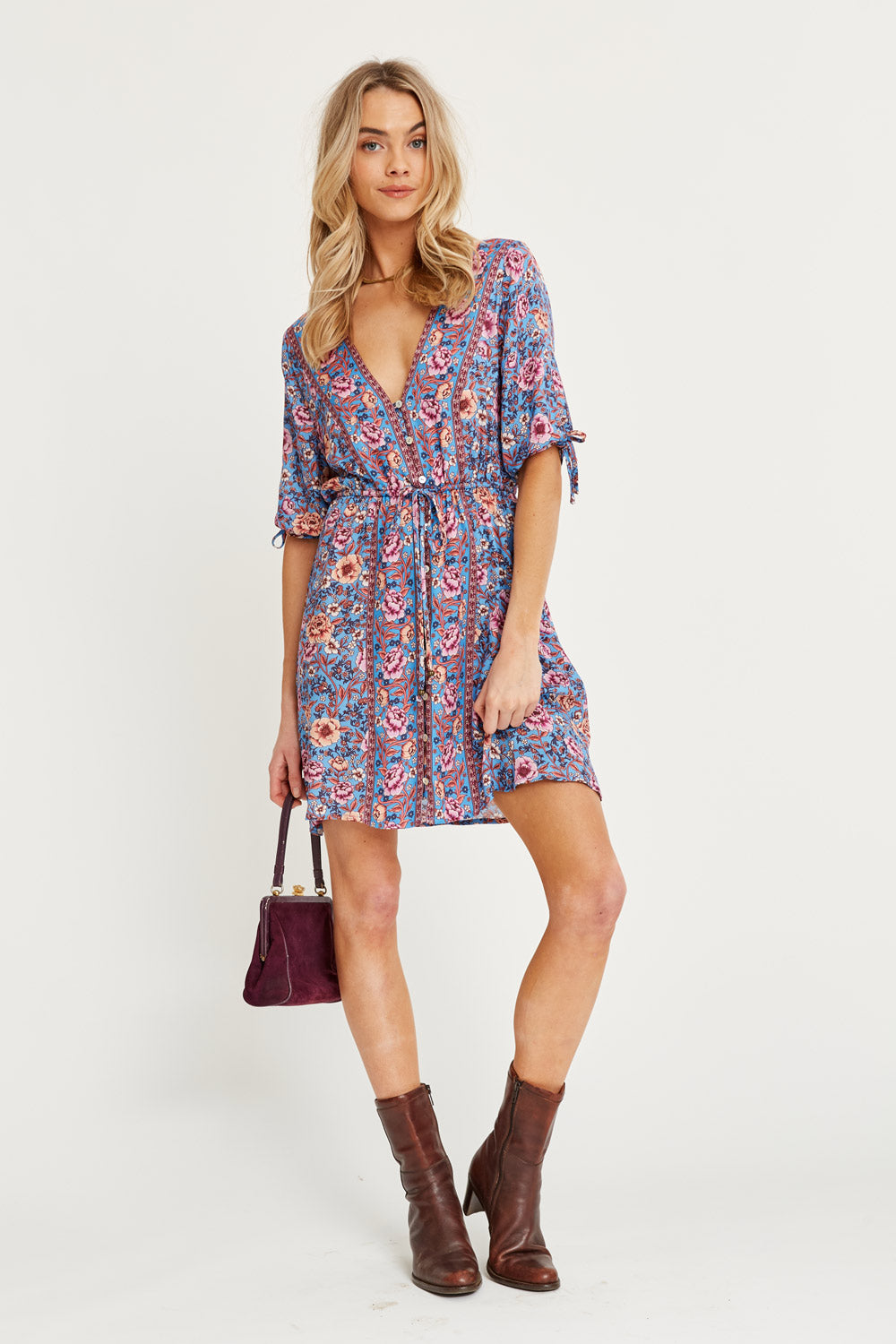 Juliette Mini Dress in Bluebelle