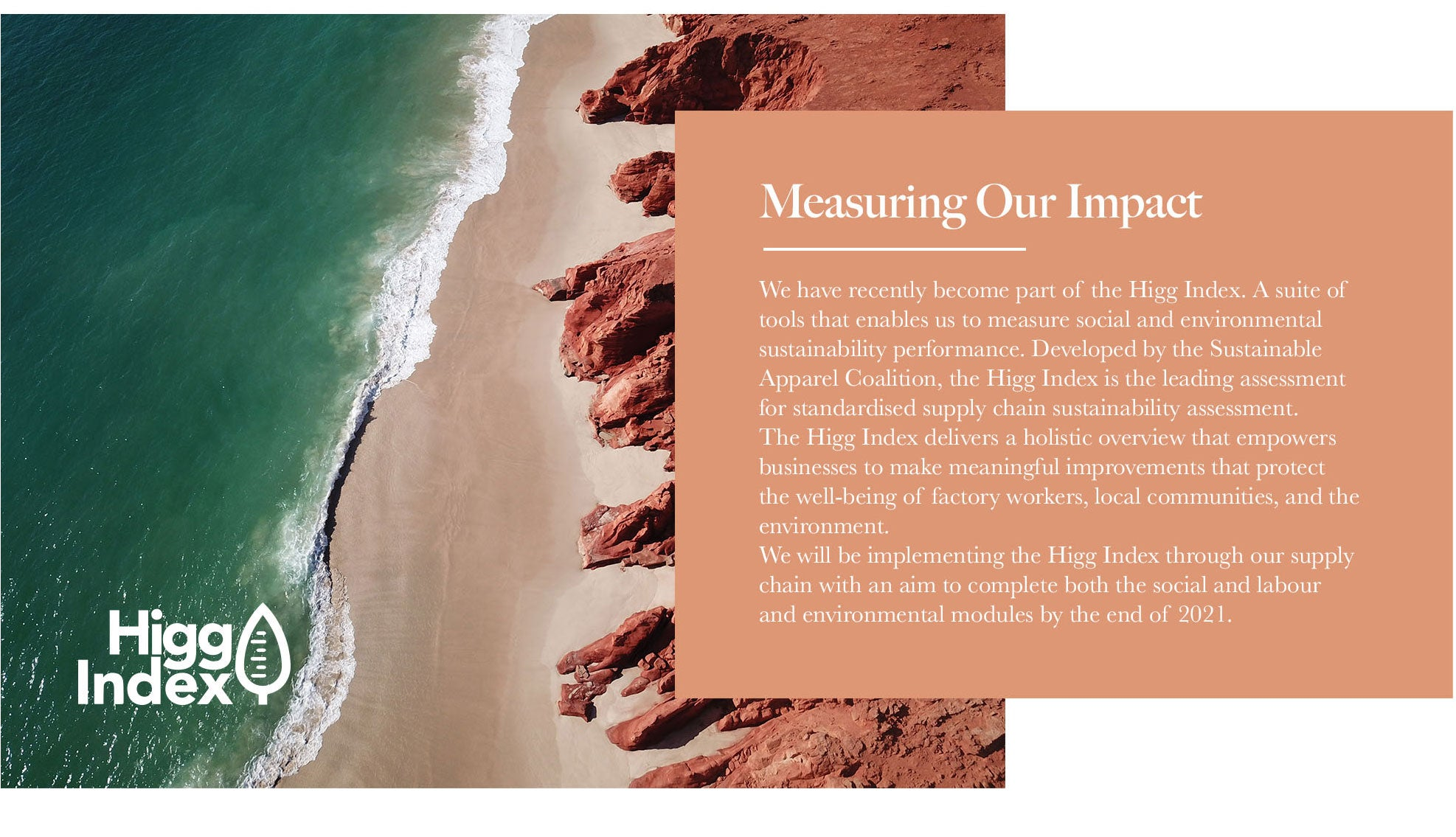 Sustainable fashion label Arnhem Clothing Byron Bay are members of the Higg Index