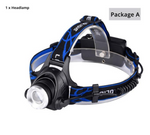 LED Zoomable Headlamp For Biking, Camping and Fishing