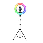 26cm RGB LED Selfie Ring Fill Light with Tripod_0