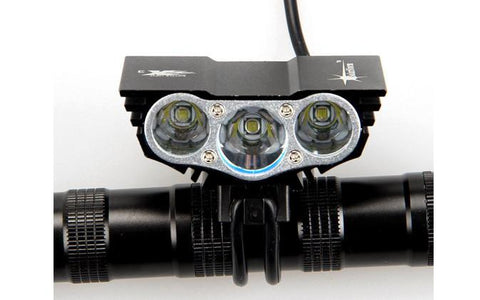 3 LED Bicycle Headlight + Taillight