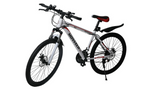 26'' Mountain Bike 21 Speed Bicycle Front Suspension Men Carboon Steel Red Wihte