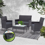 Outdoor Lounge Setting Rattan Set