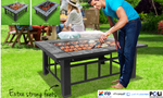 Outdoor Fire Pit BBQ Table Grill Fireplaces