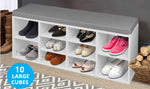Wooden Shoe Rack With Bench Top